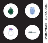 set of game icons flat style...   Shutterstock .eps vector #1104273083
