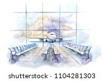 view from the terminal to the...   Shutterstock . vector #1104281303