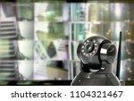 cctv security camera in...   Shutterstock . vector #1104321467