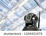 cctv security camera in...   Shutterstock . vector #1104321473