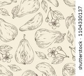 seamless pattern with pear ...   Shutterstock .eps vector #1104330137