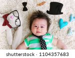 baby boy celebrating fathers... | Shutterstock . vector #1104357683
