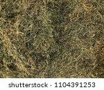 top view dry brown hay  summer... | Shutterstock . vector #1104391253