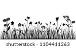 set of silhouettes of flowers... | Shutterstock .eps vector #1104411263