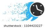 dispersed fire deadline clock... | Shutterstock .eps vector #1104423227