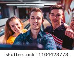 friends taking selfie at... | Shutterstock . vector #1104423773