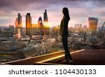 young woman looking over the...   Shutterstock . vector #1104430133