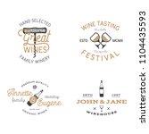wine shop badges templates in... | Shutterstock . vector #1104435593