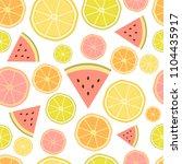 seamless vector fresh citrus... | Shutterstock .eps vector #1104435917