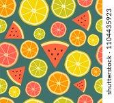 seamless vector fresh citrus... | Shutterstock .eps vector #1104435923