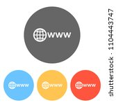 symbol of internet with globe... | Shutterstock .eps vector #1104443747