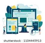 vector illustration  vector... | Shutterstock .eps vector #1104445913
