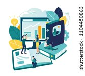 vector flat illustrations ... | Shutterstock .eps vector #1104450863