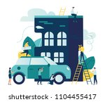 vector modern flat illustration ... | Shutterstock .eps vector #1104455417
