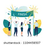 vector modern flat illustration ... | Shutterstock .eps vector #1104458507