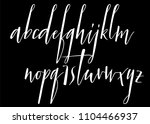 pen handwritten vector alphabet.... | Shutterstock .eps vector #1104466937