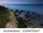 beautiful sunset on the... | Shutterstock . vector #1104470267