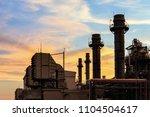 gas turbine electrical power... | Shutterstock . vector #1104504617