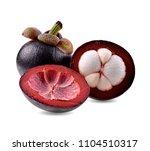 mangosteen isolated on white...   Shutterstock . vector #1104510317