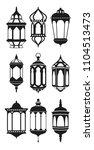ramadan vintage lantern linear... | Shutterstock .eps vector #1104513473