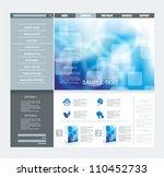 website template   Shutterstock .eps vector #110452733