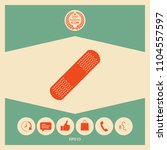 medical  plaster  adhesive... | Shutterstock .eps vector #1104557597