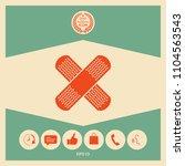 cross adhesive bandage  medical ... | Shutterstock .eps vector #1104563543