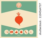 beet root icon | Shutterstock .eps vector #1104564737