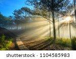 sun rays shining down through... | Shutterstock . vector #1104585983
