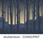 tree trunks against the... | Shutterstock .eps vector #1104619907