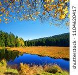 moraine lake kleiner arbersee... | Shutterstock . vector #1104620417