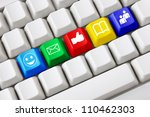 modern keyboard with colored... | Shutterstock . vector #110462303