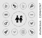 gender icon. collection of 13... | Shutterstock .eps vector #1104641567