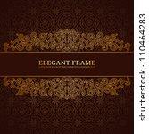 vintage frame with golden... | Shutterstock .eps vector #110464283