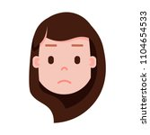 girl head emoji with facial... | Shutterstock .eps vector #1104654533