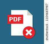 pdf formate file icon with... | Shutterstock .eps vector #1104665987