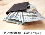 heap of money and wallet. money ...   Shutterstock . vector #1104674117