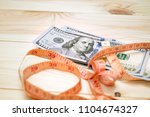 heap of money measurment. money ...   Shutterstock . vector #1104674327
