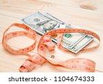heap of money measurment. money ...   Shutterstock . vector #1104674333