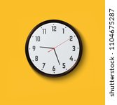 wall clock on yellow background.... | Shutterstock .eps vector #1104675287