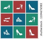 heel icon. collection of 9 heel ... | Shutterstock .eps vector #1104676583
