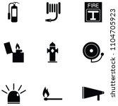 firefighter icon set | Shutterstock .eps vector #1104705923