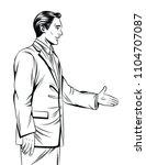 vector black and white line art ... | Shutterstock .eps vector #1104707087