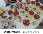 fast food on the table  | Shutterstock . vector #1104712973