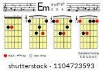 guitar chords. e minor basic...   Shutterstock .eps vector #1104723593