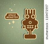 vintage monster. retro robot... | Shutterstock .eps vector #110472557