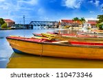 Jamaica. National boats on the Black river. - stock photo