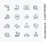 skin line icon set isolated on... | Shutterstock .eps vector #1104759587