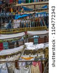 dhobi ghat is a well known open ... | Shutterstock . vector #1104772343