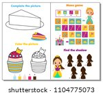 princess theme activity page... | Shutterstock .eps vector #1104775073